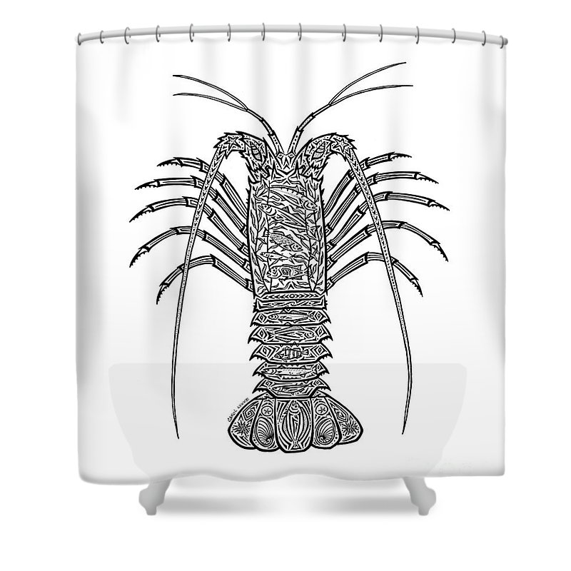 Tribal Spiny Lobster Shower Curtain For Sale By Carol Lynne