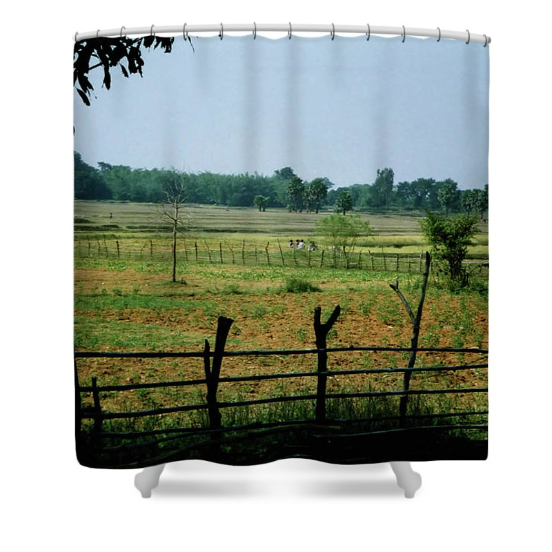 Tribe Shower Curtain featuring the photograph Tribal Village by Ujjwal Rout