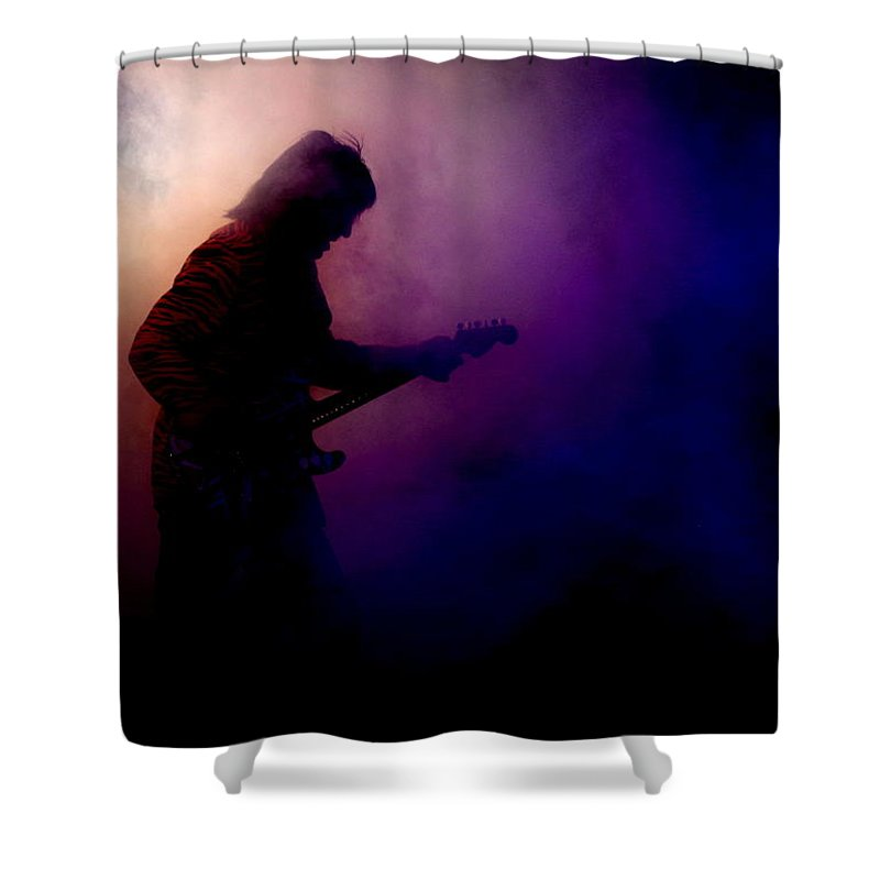 Vintage Halen Shower Curtain featuring the photograph Tribute 2 by Kevin B Bohner