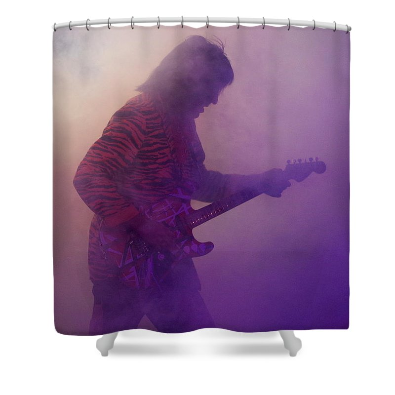 Vintage Halen Shower Curtain featuring the photograph Tribute by Kevin B Bohner