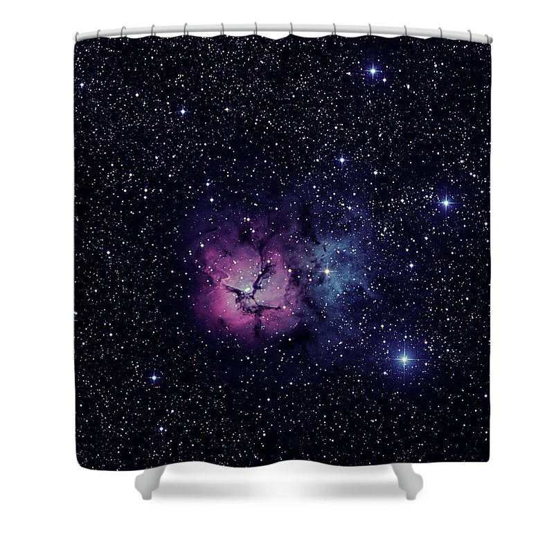 Trifid Shower Curtain featuring the photograph Trifid Nebula M20 by Nigel R Bell