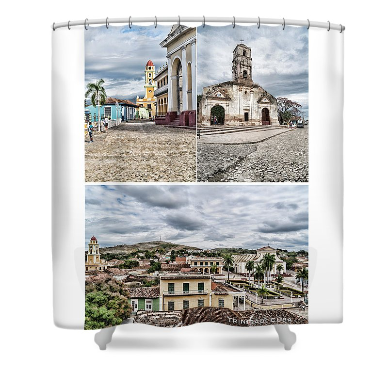 Trinidad Postcard Shower Curtain featuring the photograph Trinidad Postcard by Sharon Popek
