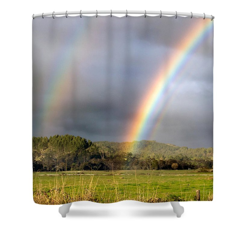 Triple Shower Curtain featuring the photograph Triple Promise by Nicholas Blackwell