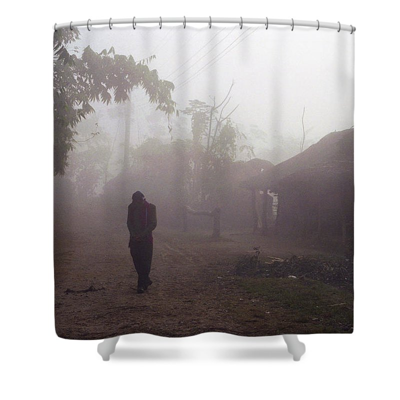 Nepal Shower Curtain featuring the photograph Tristesse by Patrick Klauss