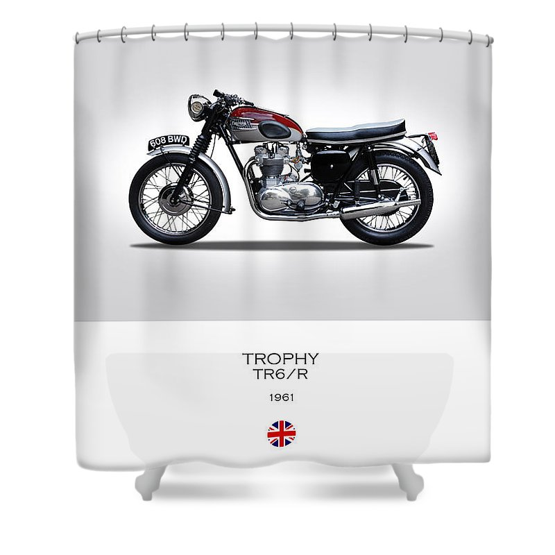 Triumph Trophy Shower Curtain featuring the photograph Triumph Trophy by Mark Rogan