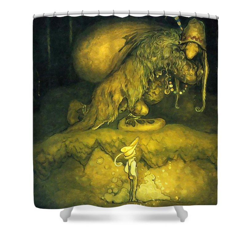 Troll Shower Curtain Featuring The Painting On Way