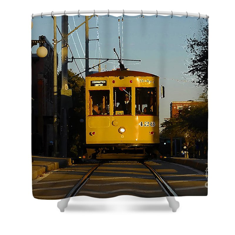 Trolley Shower Curtain featuring the photograph Trolley Ride by David Lee Thompson