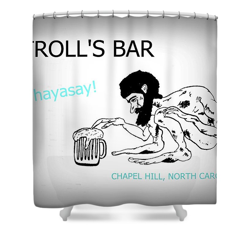 Troll Shower Curtain Featuring The Photograph Trolls Bar Chapel Hill Nc By Joan Meyland