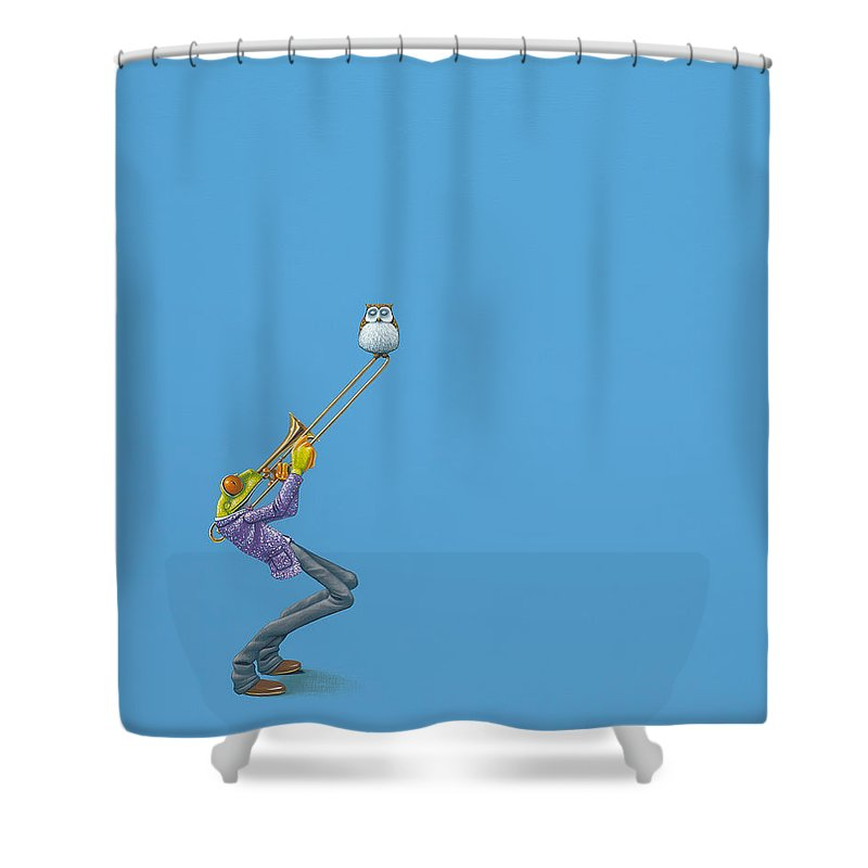 Trombone Shower Curtains