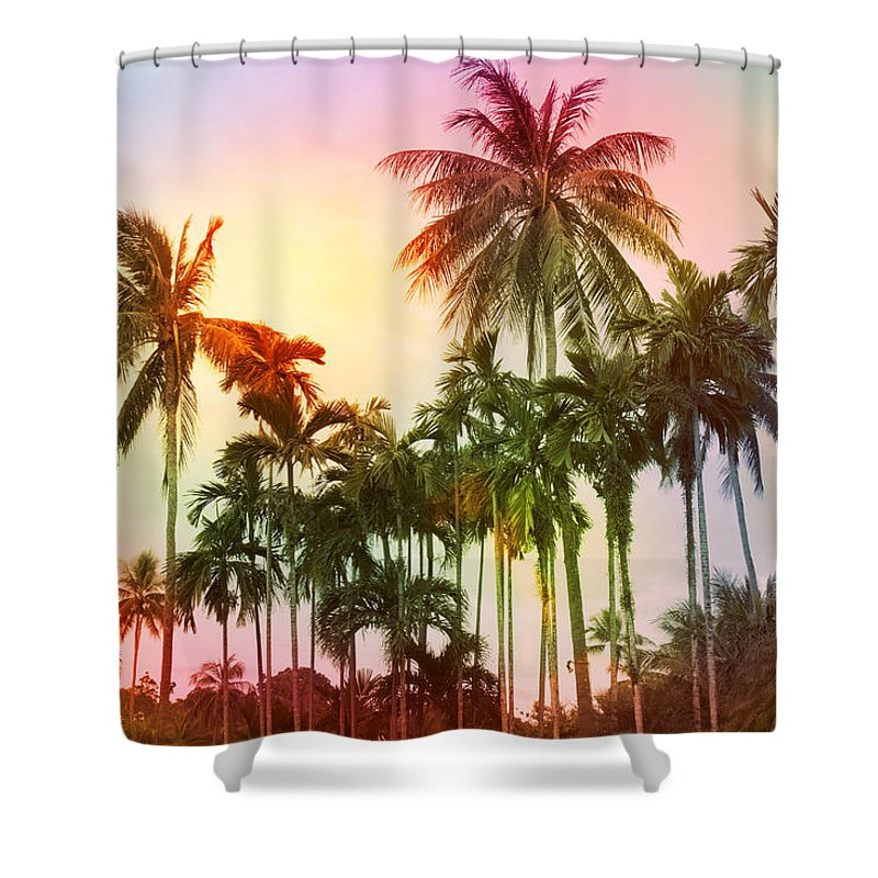 Tropical Shower Curtain featuring the photograph Tropical 11 by Mark Ashkenazi
