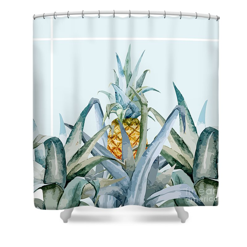 Summer Shower Curtain Featuring The Painting Tropical Feeling By Mark Ashkenazi