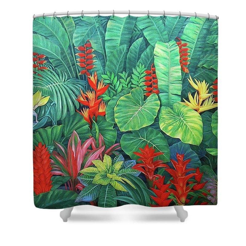Tropical Flora Shower Curtain For Sale By Mon Fagtanac