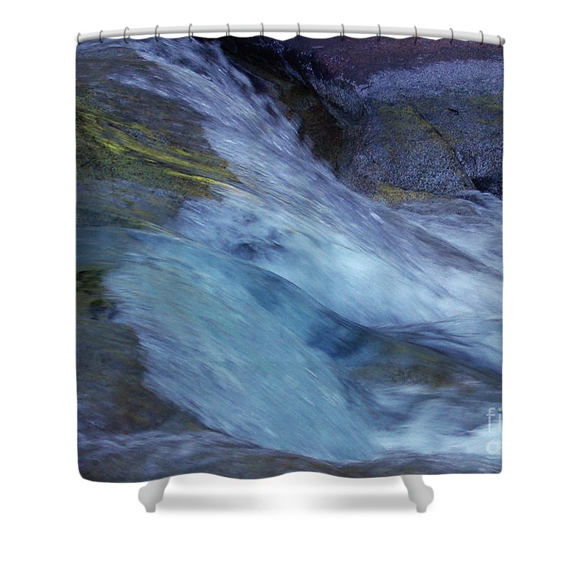 Nature Shower Curtain featuring the photograph Tropical Flowing Waters by Kerryn Madsen- Pietsch