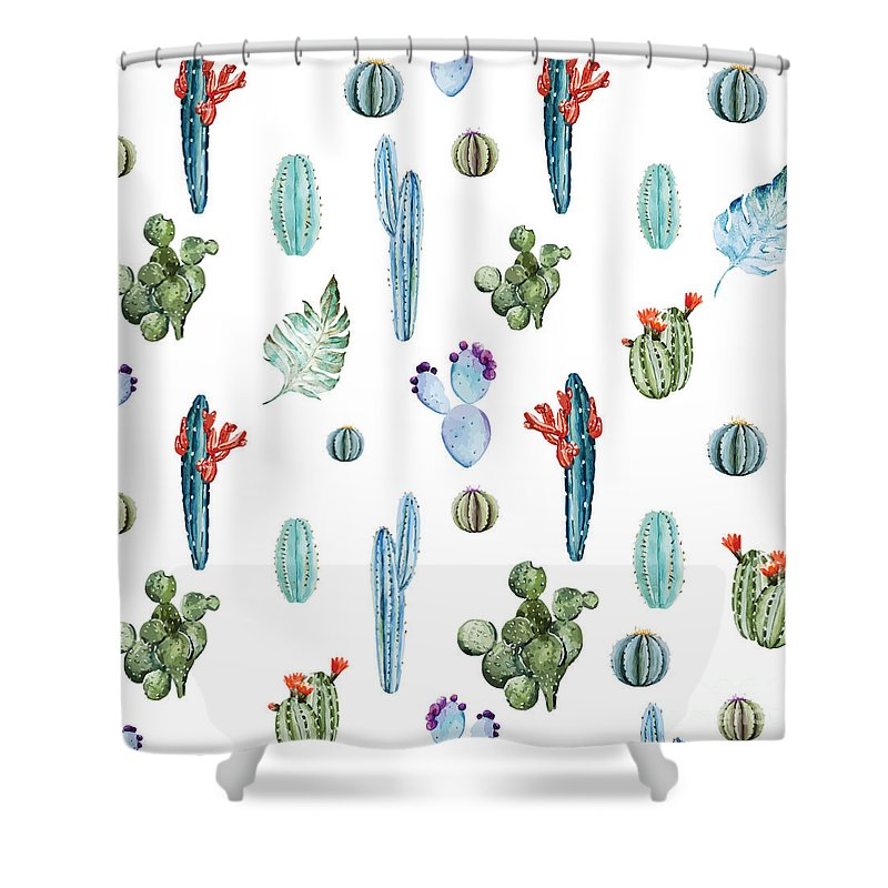 Summer Shower Curtain featuring the painting Tropical Forever 2 by Mark Ashkenazi