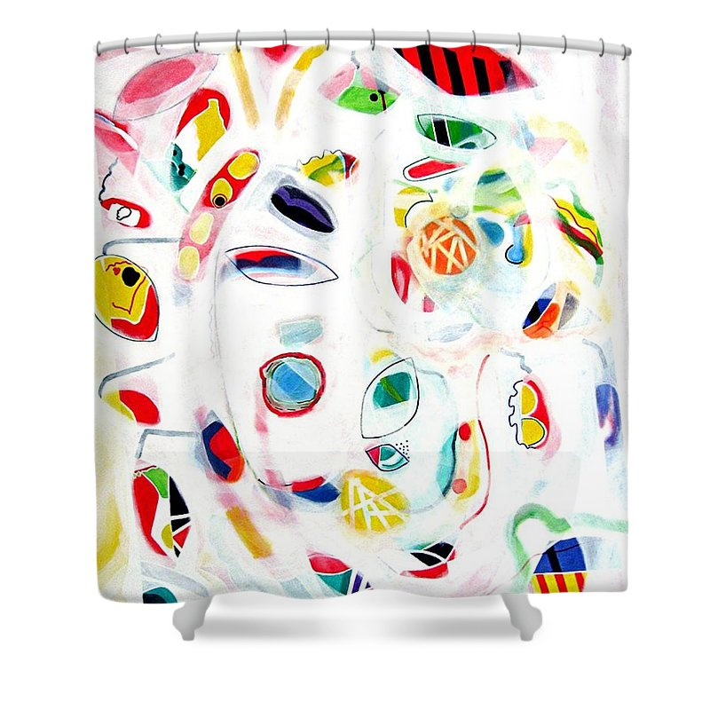 Tropical Shower Curtain featuring the painting Tropical Fruit by Barron Holland