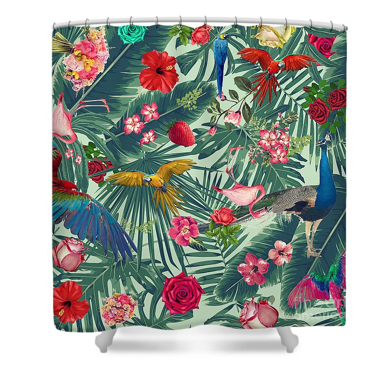 Summer Shower Curtain featuring the photograph Tropical Fun Time by Mark Ashkenazi