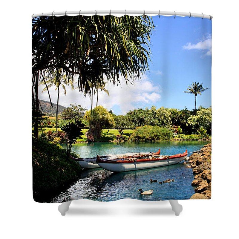 Waikapu Shower Curtain featuring the photograph Tropical Plantation - Maui by DJ Florek