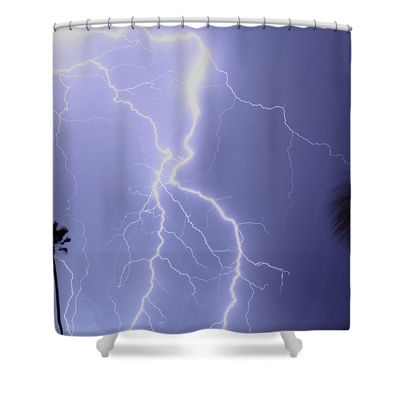 Lightning Shower Curtain featuring the photograph Tropical Storm Ll by James BO Insogna