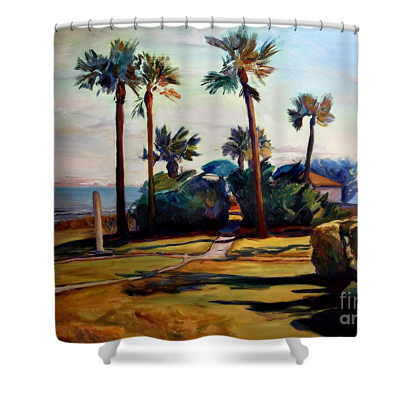Painting Shower Curtain featuring the painting Tropical Sunshine by Maris Salmins