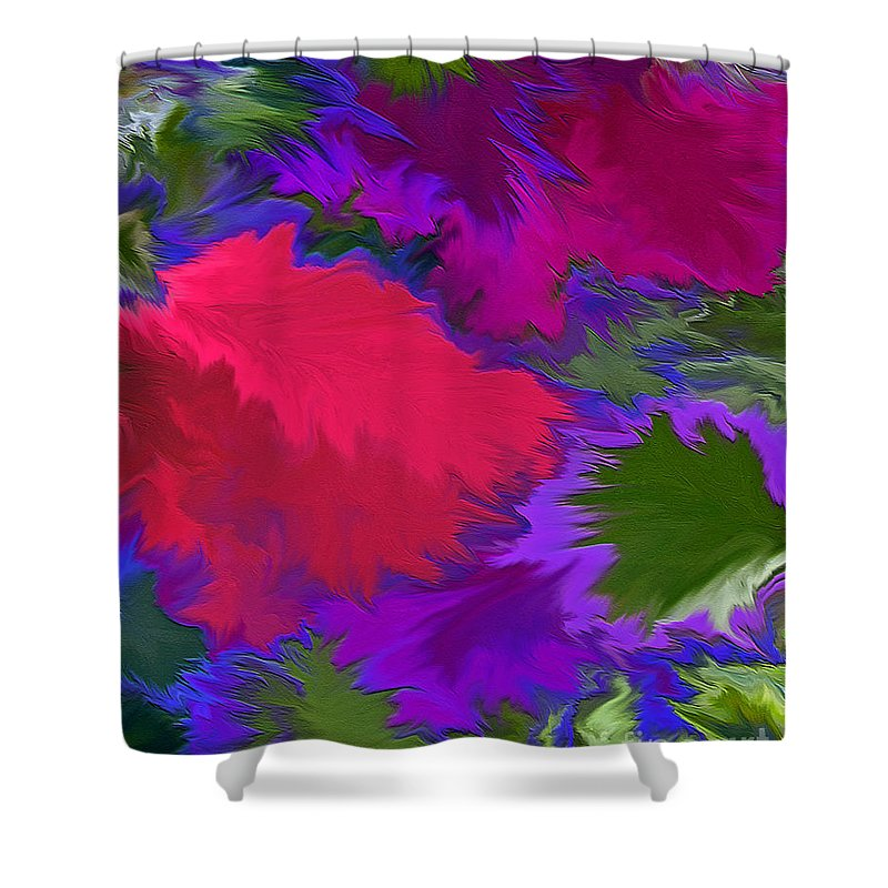 Mixed Media Art Shower Curtain featuring the photograph Tropicana by Patricia Griffin Brett