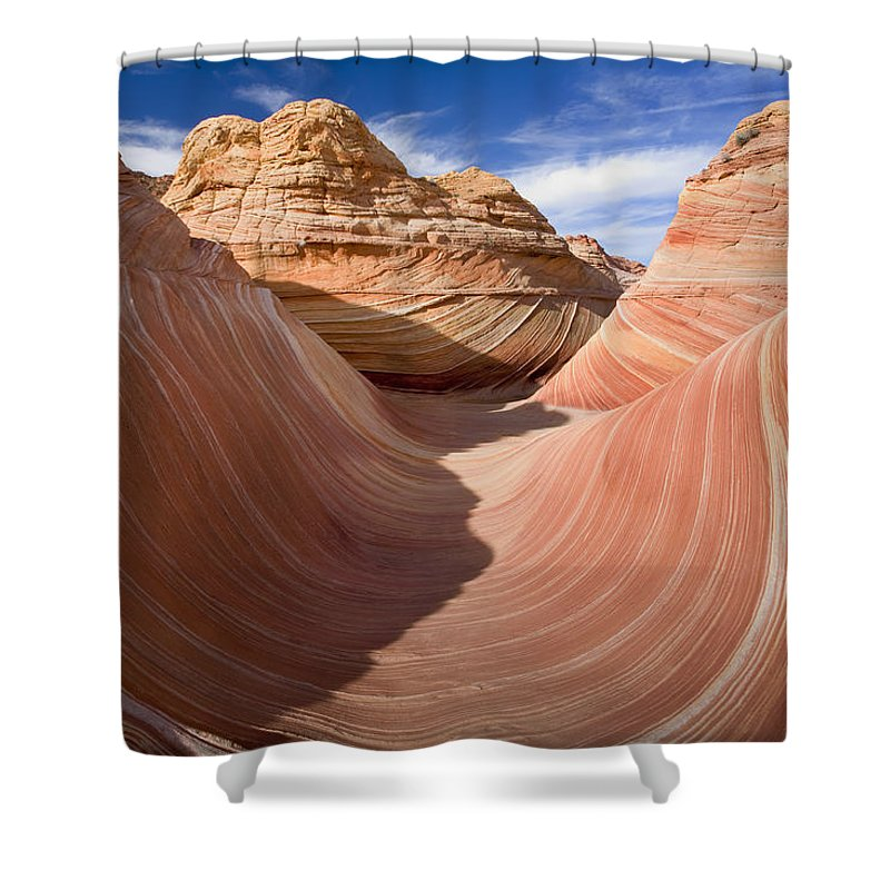 The Wave Shower Curtain featuring the photograph Trough Of The Wave by Mike Dawson