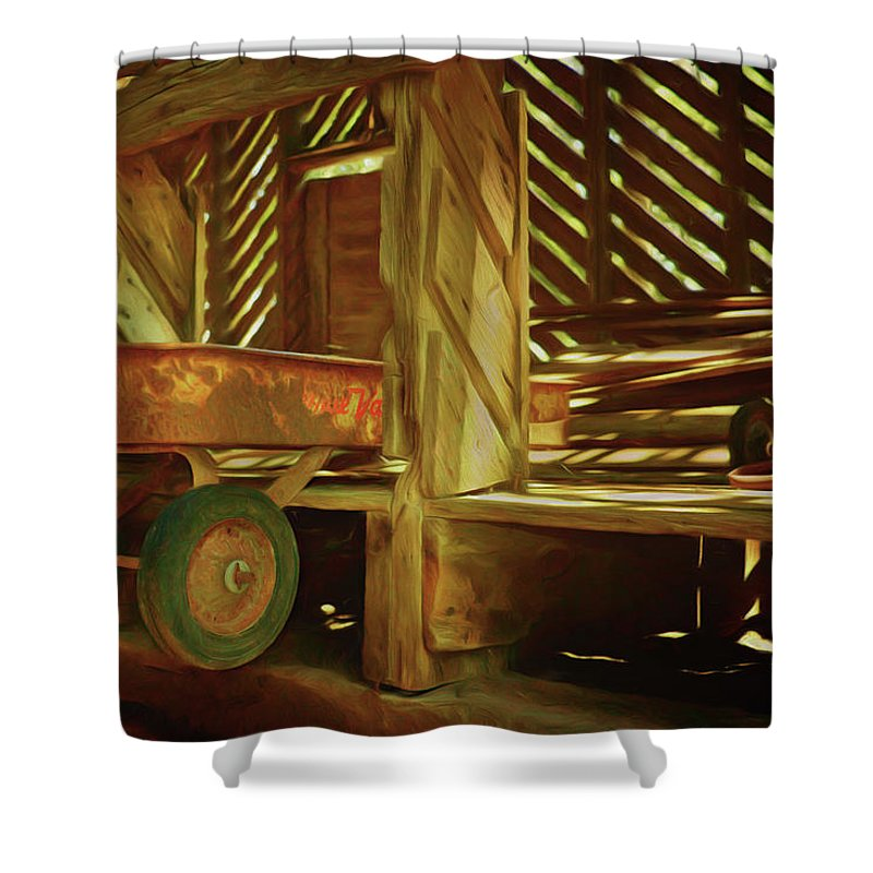 Wagons Shower Curtain featuring the photograph True Value by Nikolyn McDonald