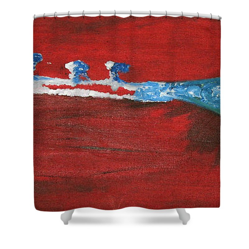 Trumpet Shower Curtain featuring the painting Trumpet by Michael Mooney