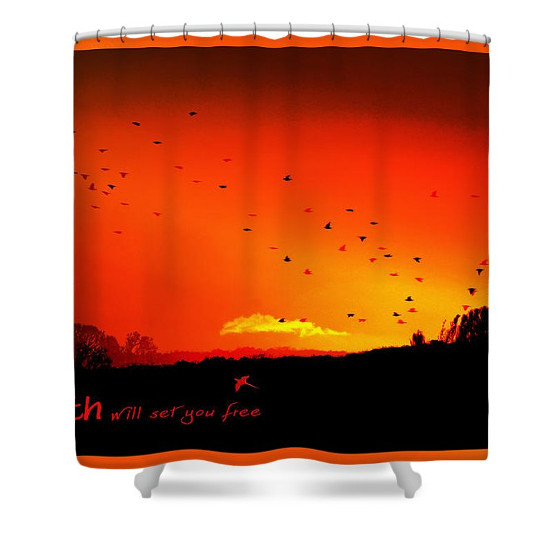 Landscape Shower Curtain featuring the photograph Truth by Holly Kempe