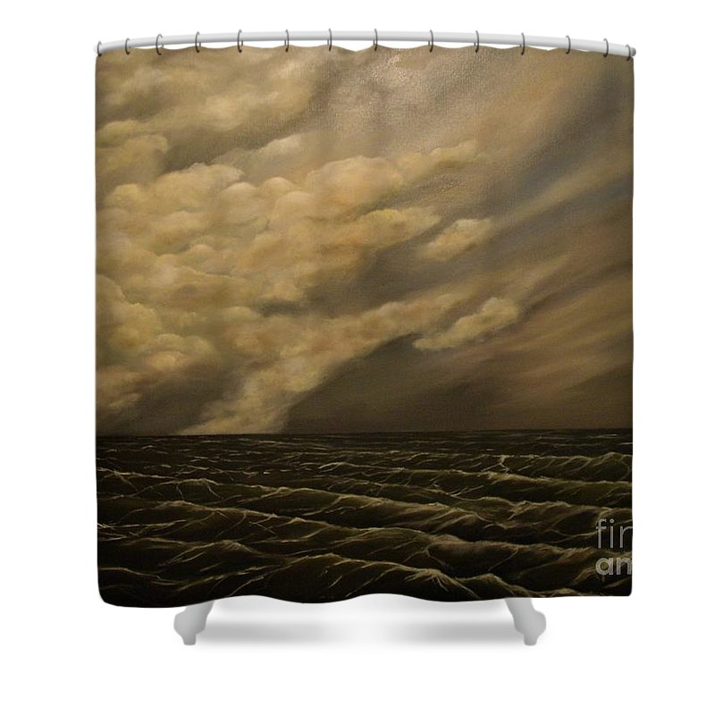 Sky Shower Curtain featuring the painting Tuesday Morning by John Stuart Webbstock