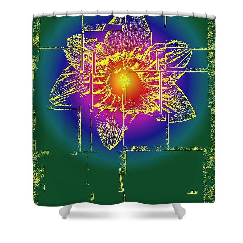 Tulip Shower Curtain featuring the digital art Tulip by Tim Allen