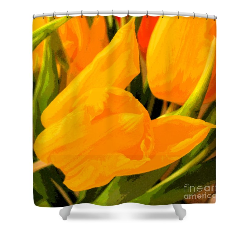 Tulip Shower Curtain featuring the photograph Tulips by Amanda Barcon