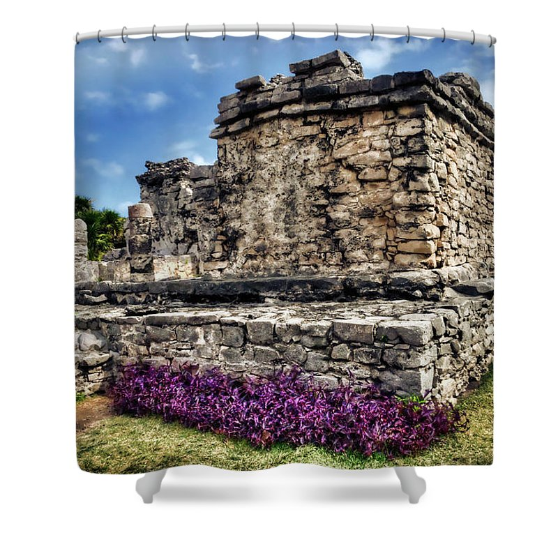 Tulum Shower Curtain featuring the photograph Tulum Temple Ruins by Tammy Wetzel