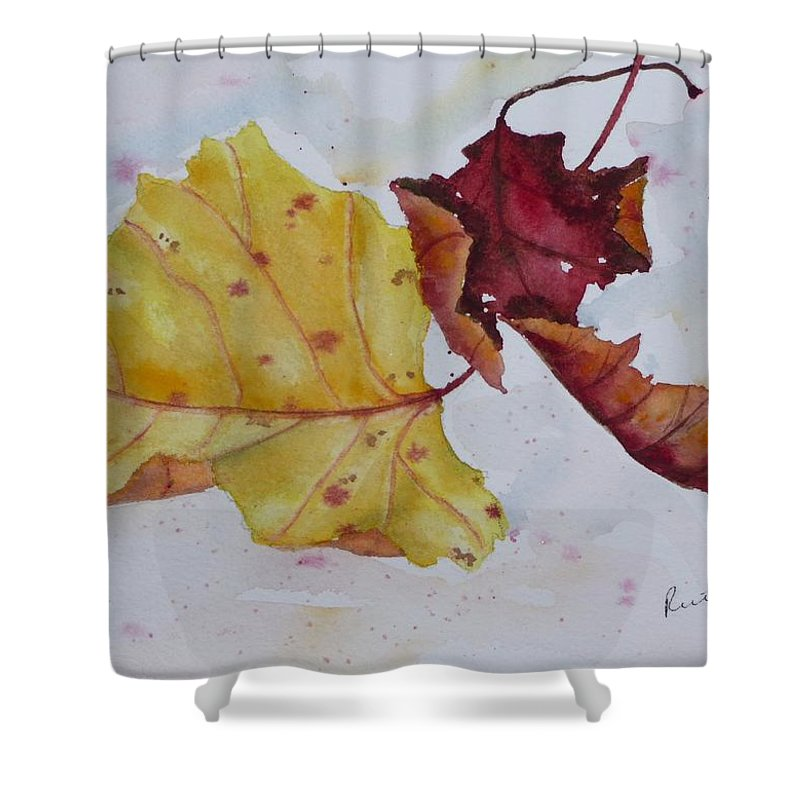 Fall Shower Curtain featuring the painting Tumbling by Ruth Kamenev
