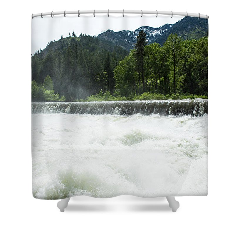 Tumwater Dam Shower Curtain featuring the photograph Tumwater Dam by Tom Cochran