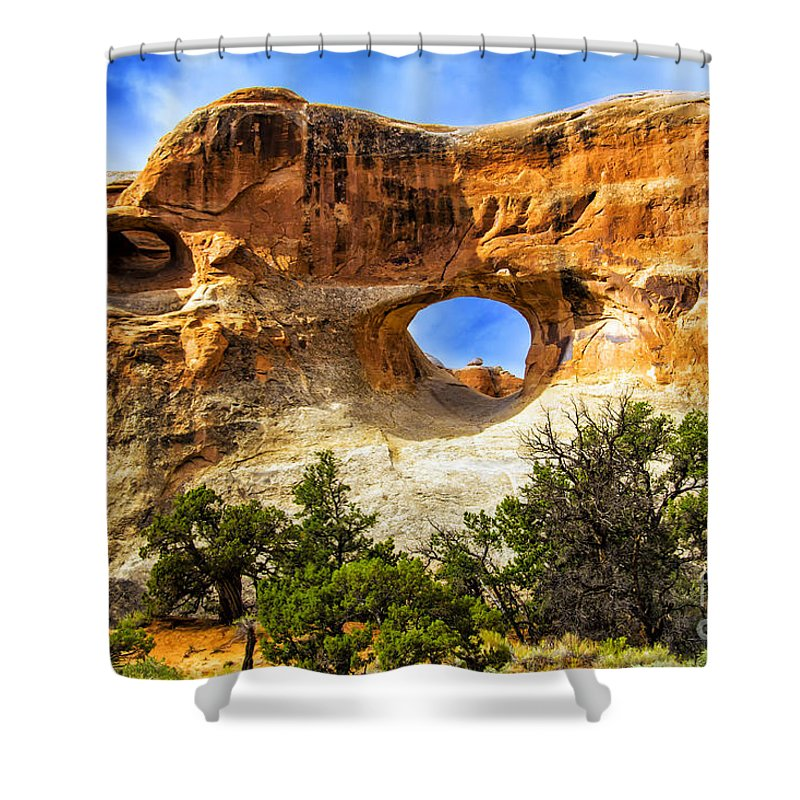 Arches Shower Curtain featuring the photograph Tunnel Arch by Roberta Bragan
