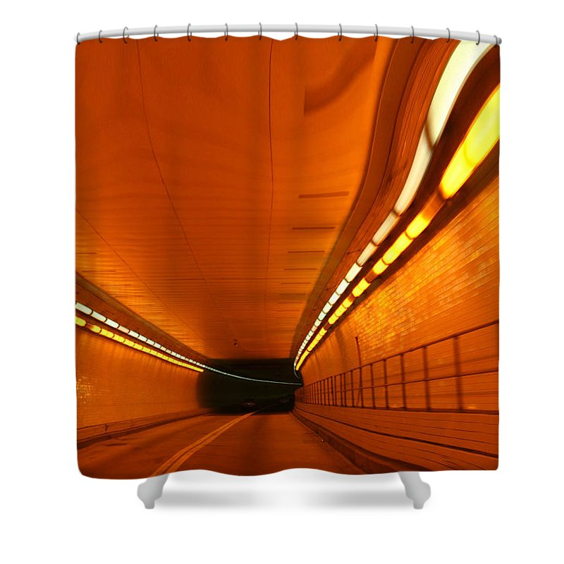 Tunnel Shower Curtain featuring the photograph Tunnel by Linda Sannuti
