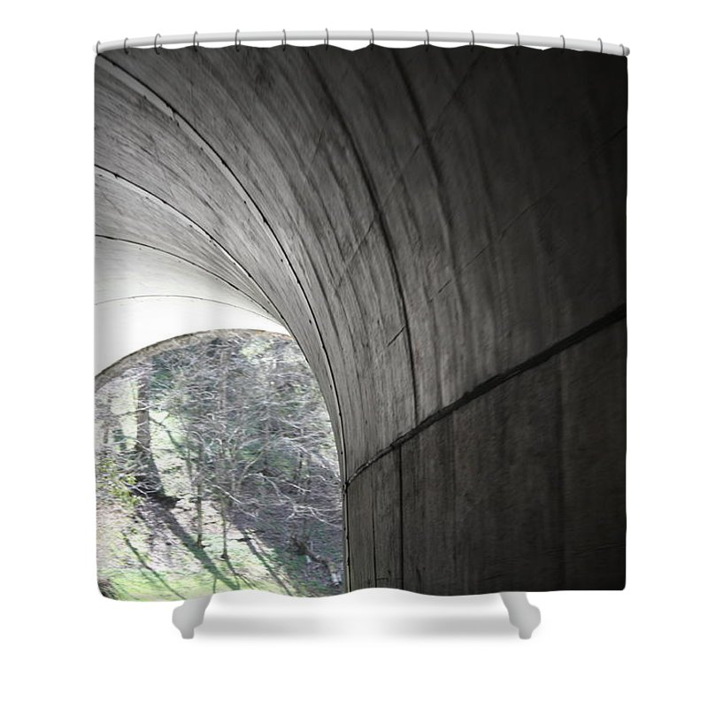 Shower Curtain featuring the photograph Tunnel by Teresa Doran