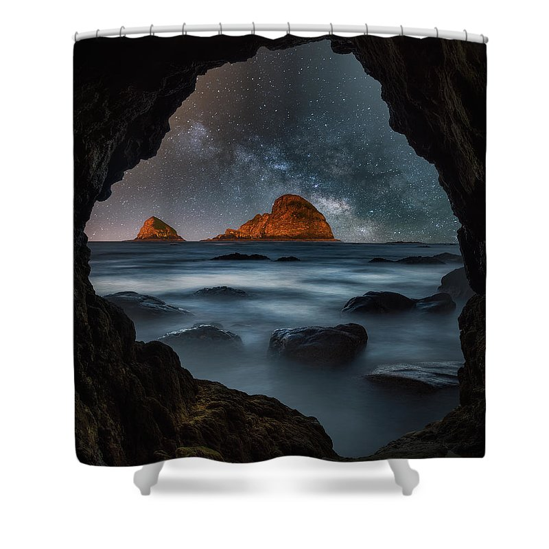 Milky Way Shower Curtain featuring the photograph Tunnel View Nights by Darren White