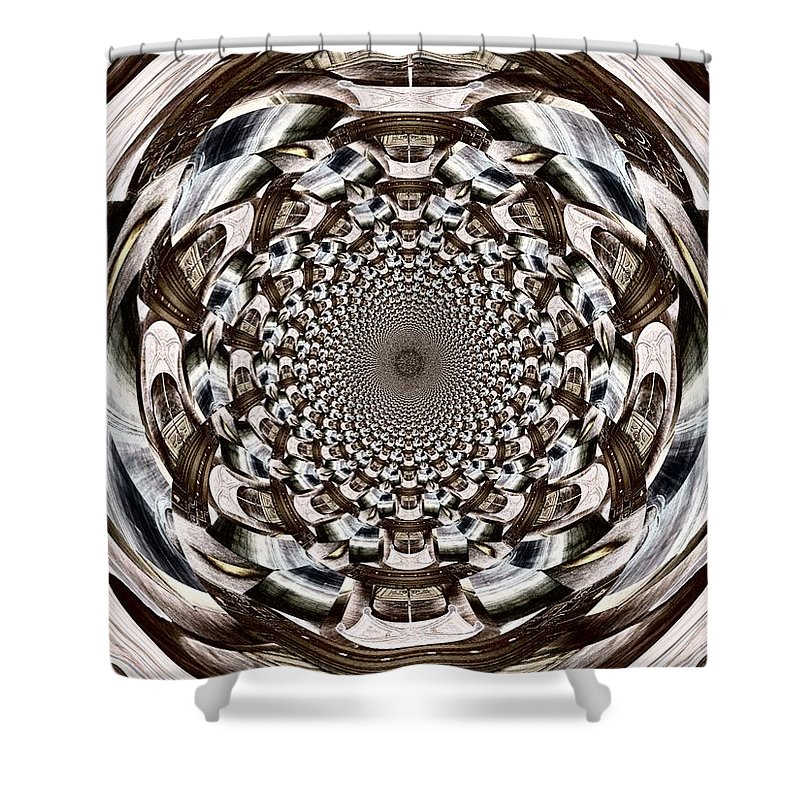 Orb Shower Curtain featuring the digital art Tunnel Vision by Charleen Treasures