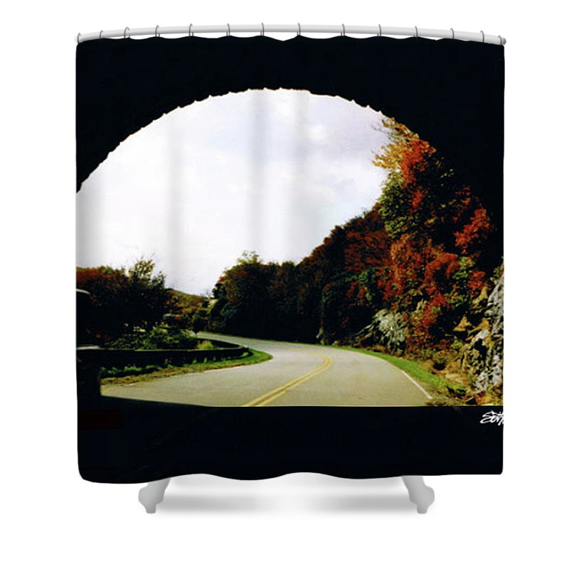 Tunnel Vision Shower Curtain featuring the photograph Tunnel Vision by Seth Weaver