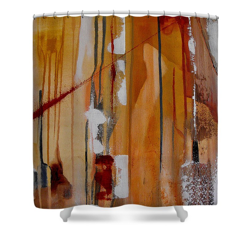 Abstract Shower Curtain featuring the painting Turbulent Times by Ruth Palmer