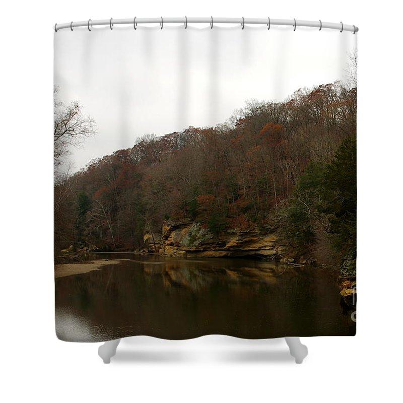 Shower Curtain featuring the photograph Turkey Run by Kitrina Arbuckle