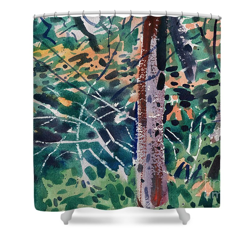 Autumn Foliage Shower Curtain featuring the painting Turning Leaves by Donald Maier