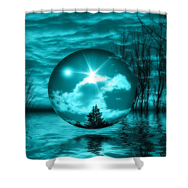 Turquoise Shower Curtain featuring the photograph Turquoise Dreams by Shane Bechler