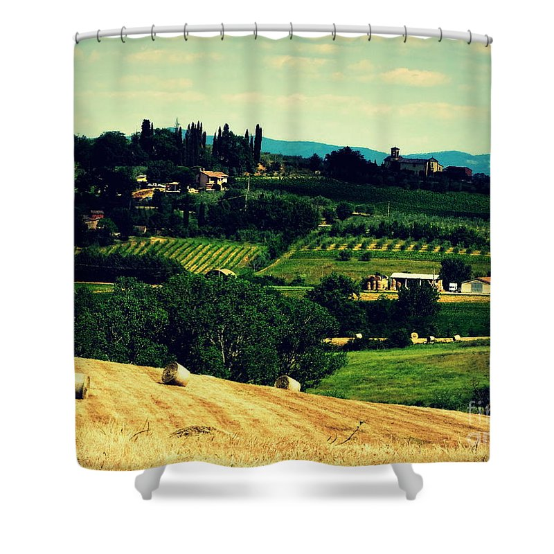 Tuscany Shower Curtain featuring the photograph Tuscan Country by Lainie Wrightson