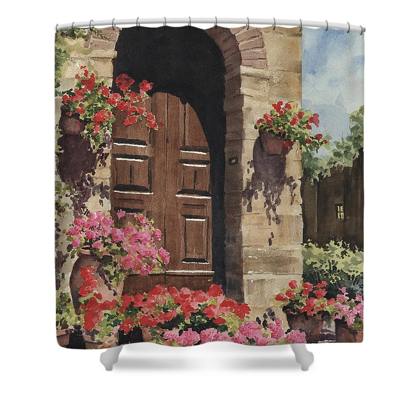 Tuscan Door Shower Curtain for Sale by Sam Sidders