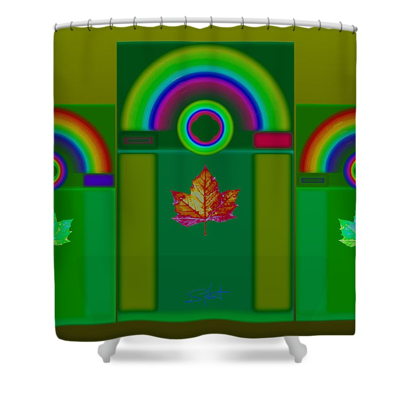 Classical Shower Curtain featuring the digital art Tuscan Green by Charles Stuart