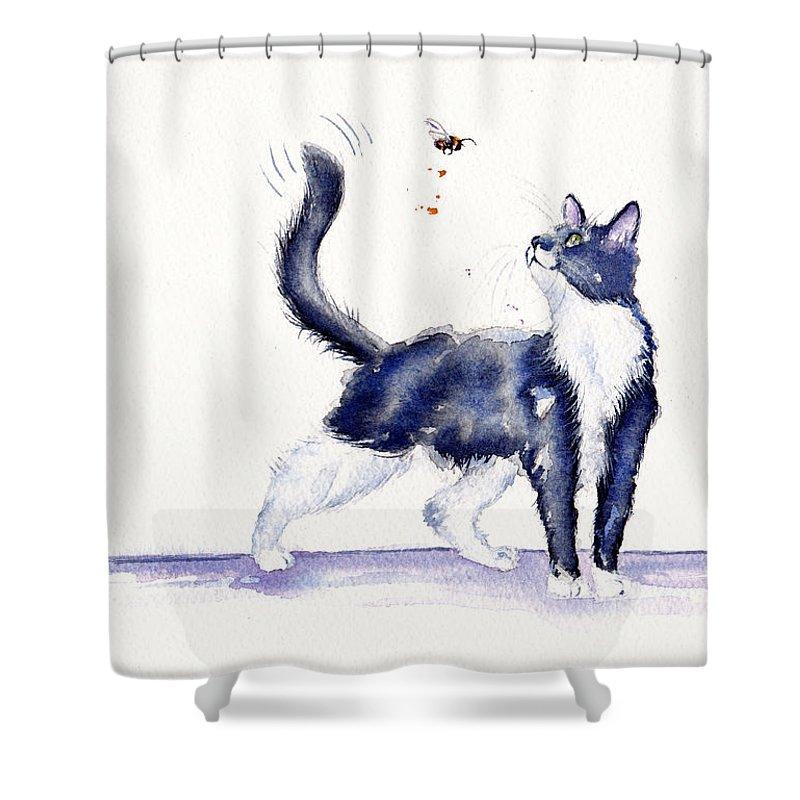 Tuxedo Cat Shower Curtains