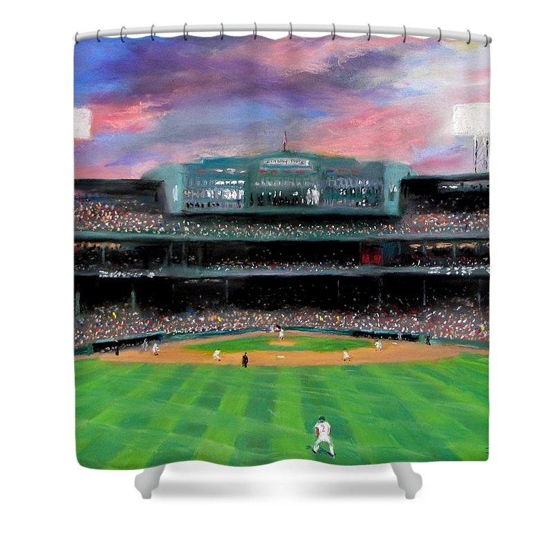 Baseball Park Shower Curtains