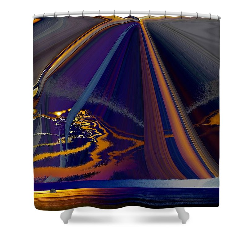 Abstract Shower Curtain featuring the photograph Twilight Journey by Tim Allen